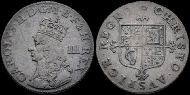 Charles Ii 1 To 4 Pence Coins